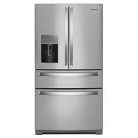 36-inch Wide 4-Door Refrigerator with Exterior Drawer - 26 cu. ft. Fingerprint Resistant Stainless Steel
