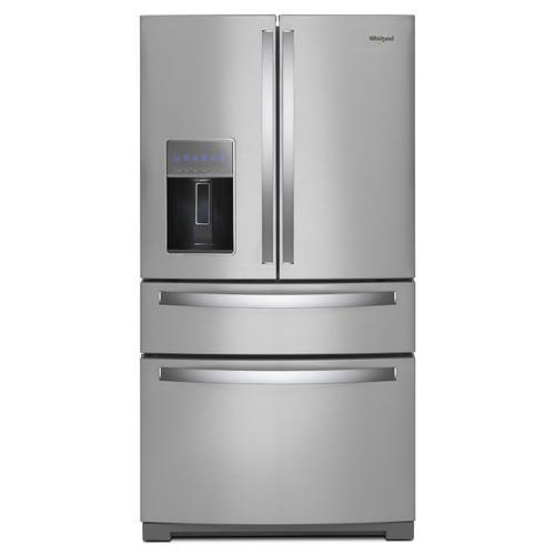 Whirlpool - 36-inch Wide 4-Door Refrigerator with Exterior Drawer - 26 cu. ft. Fingerprint Resistant Stainless Steel