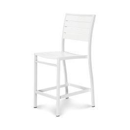 Polywood Furnishings - Eurou2122 Counter Side Chair in Satin White / White