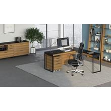 View Product - Sequel 20 6101 Desk in Walnut Black