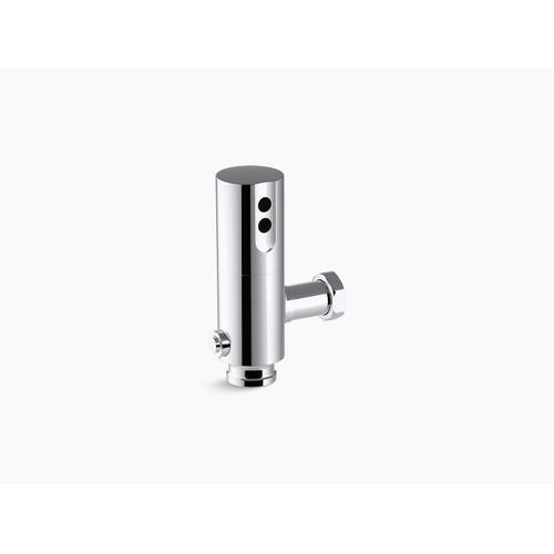 Polished Chrome Exposed Hybrid 1.6 Gpf Retrofit Flushometer for Toilet Installation