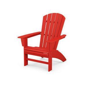 Polywood Furnishings - Nautical Curveback Adirondack Chair in Sunset Red