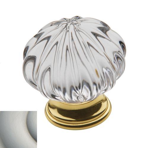 Baldwin - Satin Nickel Crystal Cabinet Knob