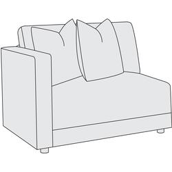 Orion Left Arm Chair in Mocha (751)