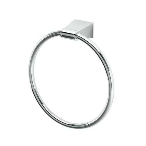 Bleu Towel Ring in Satin Nickel