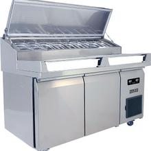 See Details - 2 Door Prep-table Refrigerator With Stainless Solid Finish (115v/60 Hz Volts /60 Hz Hz)