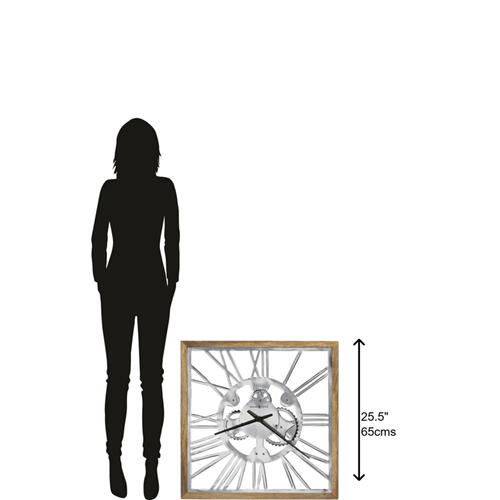 Howard Miller Mecha Square Oversized Wall Clock 625679