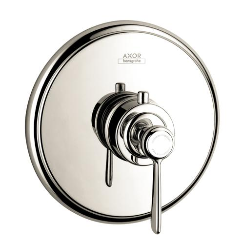 Polished Nickel Thermostat HighFlow for concealed installation with lever handle