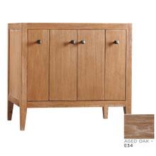 """Sophie 36"""" Bathroom Vanity Cabinet Base in Aged Oak"""