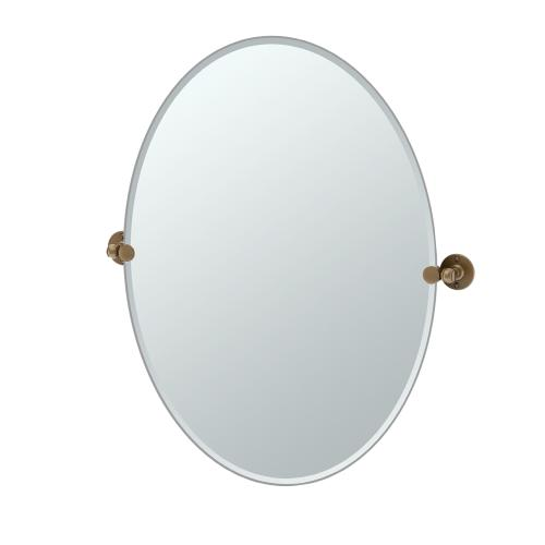 Cafe Oval Mirror in Bronze