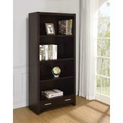 Skylar Contemporary Cappuccino Bookcase Product Image