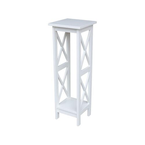 36'' X Side Plant Stand in White