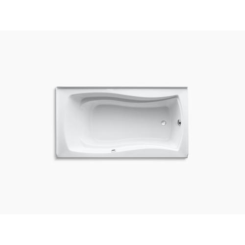 "Biscuit 66"" X 36"" Alcove Bath With Bask Heated Surface, Integral Flange, and Right-hand Drain"