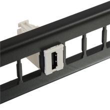 See Details - HDJ HIGH DENSITY JACK HDMI COUPLER FOG WHITE