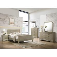 Louis Philippe Gold Queen 4PC Bedroom Set