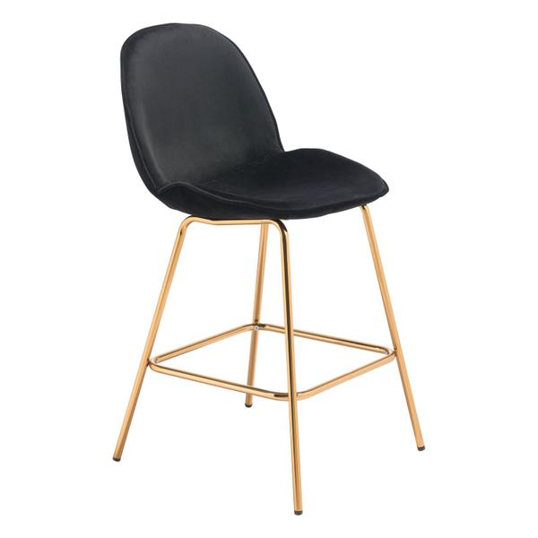 See Details - Siena Counter Chair Black & Gold