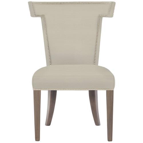 Remy Dining Side Chair in Portobello Finishes Available Cocoa (CN1) Portobello (PN1) Smoke (SN1) Nailhead Finish Shown #13 Bright Nickel