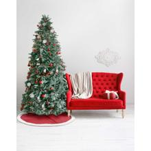 """See Details - Home for the Holiday Qy410 Red 48"""" X 48"""" Round Tree Skirt"""