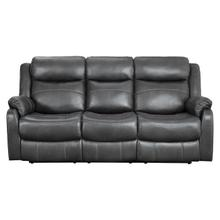 See Details - Double Lay Flat Reclining Sofa with Center Drop-Down Cup Holders