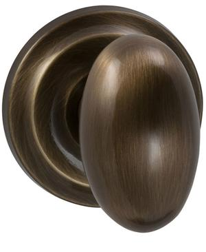 Interior Traditional Egg-shaped Knob Latchset in (SB Shaded Bronze, Lacquered) Product Image