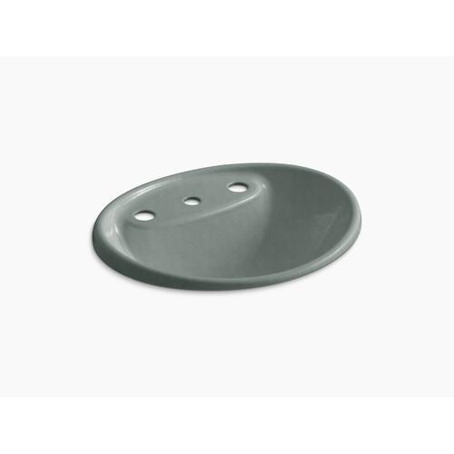 "Basalt Drop-in Bathroom Sink With 8"" Widespread Faucet Holes"