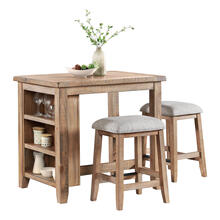 View Product - CLEARANCE Highland Storage Table & Stools
