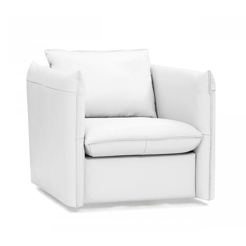 VIG Furniture - Divani Casa Tamworth - Modern White Leather Swivel Lounge Chair