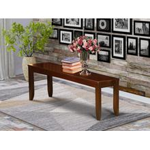Lynfield Dining Bench with Wood Seat in Espresso Finish