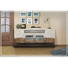 2 Drawer, 4 Door, Tv Stand, White finish