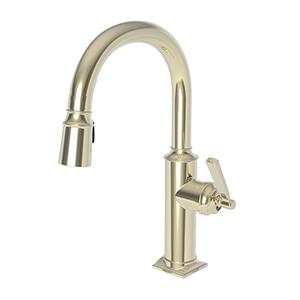 French Gold - PVD Prep/Bar Pull Down Faucet
