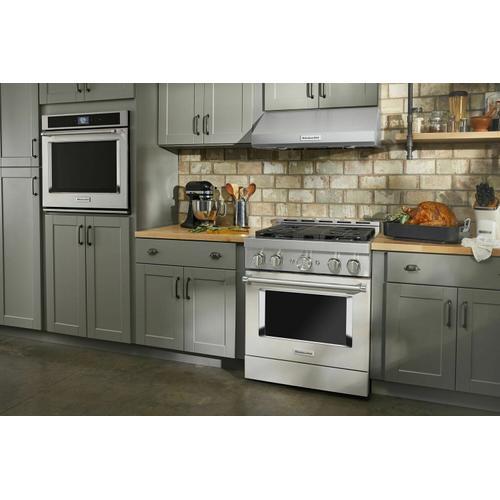KitchenAid - KitchenAid® 30'' Smart Commercial-Style Gas Range with 4 Burners - Milkshake