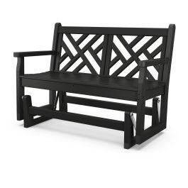 Polywood Furnishings - Chippendale Glider - Black