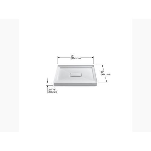 """Kohler - White 36"""" X 36"""" Single Threshold Center Drain Shower Base With Removable Cover"""