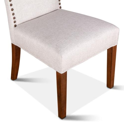 Product Image - Jones Dining Chair Off White with Natural Teak Legs