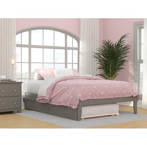 Atlantic Furniture - Colorado Full Bed with USB Turbo Charger and Twin Trundle in Grey