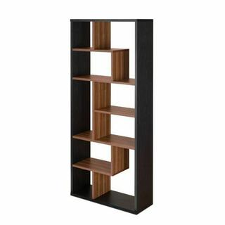 ACME Mileta II Bookshelf - 92358 - Black & Walnut
