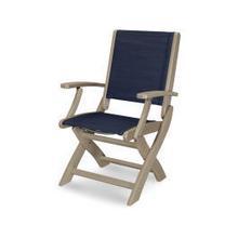Coastal Folding Chair in Vintage Sahara / Sapphire Sling