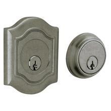 View Product - Distressed Antique Nickel Bethpage Deadbolt