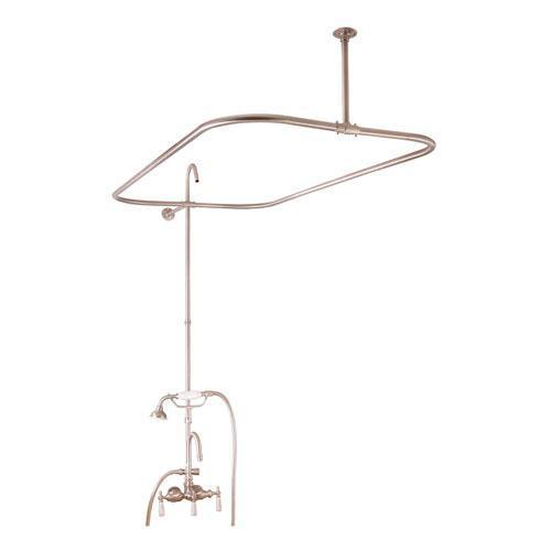 "Tub/Shower Converto Unit - 48"" Rod for Cast Iron Tub - Brushed Nickel"
