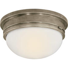 E. F. Chapman Marine 2 Light 13 inch Antique Nickel Flush Mount Ceiling Light