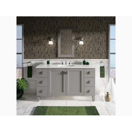 "Almond Expressions 61"" Vanity-top With Single Verticyl Rectangular Cutout"