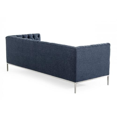 Gallery - Divani Casa Garcia - Dark Grey Fabric Sofa