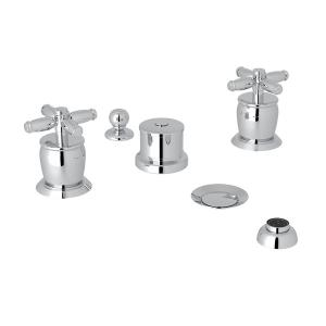 Polished Chrome Zephyr 5-Hole Bidet Faucet with Cross Handle Zephyr Series Only Product Image