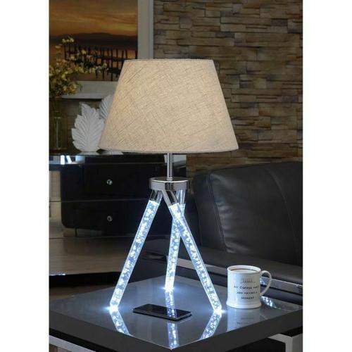 ACME Cici Table Lamp - 40133 - Chrome