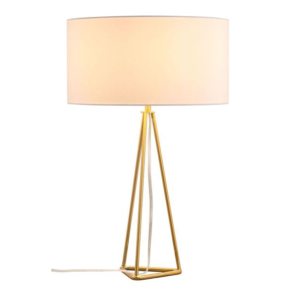 See Details - Sascha Table Lamp White & Gold