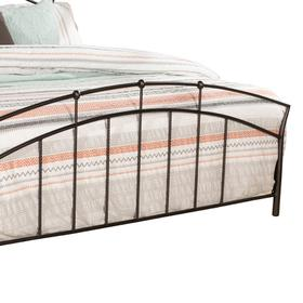 Vancouver Complete King Size Metal Headboard With Hb Frame, Antique Brown
