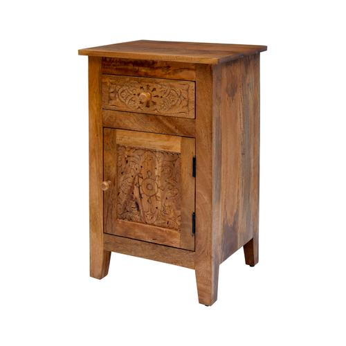 Global Archive Hand Carved Accent Table