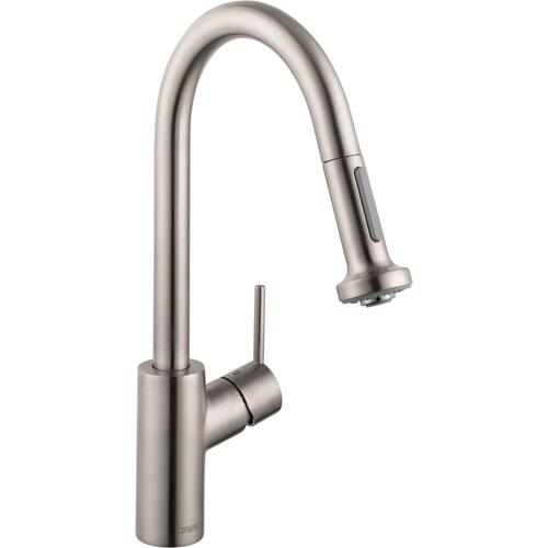 Steel Optic HighArc Kitchen Faucet, 2-Spray Pull-Down, 1.5 GPM