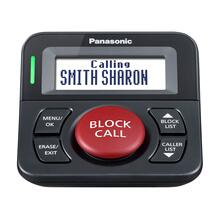 Panasonic Call Block Button with Bilingual Talking Caller ID, One-Touch Call Block and 16,000 Number Block Capacity - KX-TGA710 (Black)