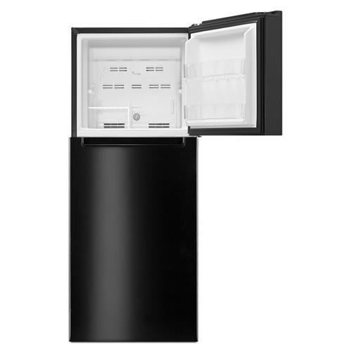 Whirlpool - 25-inch Wide Top Freezer Refrigerator - 11 cu. ft. Black